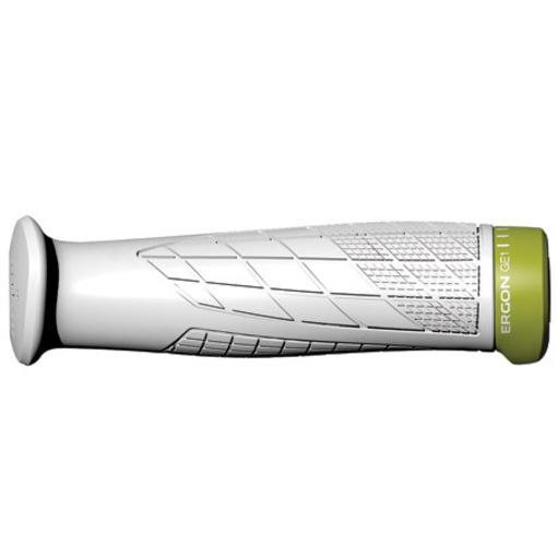 Manopole piccole Ergon GE1-S serie Enduro bianche edizione Enduro/FR MTB