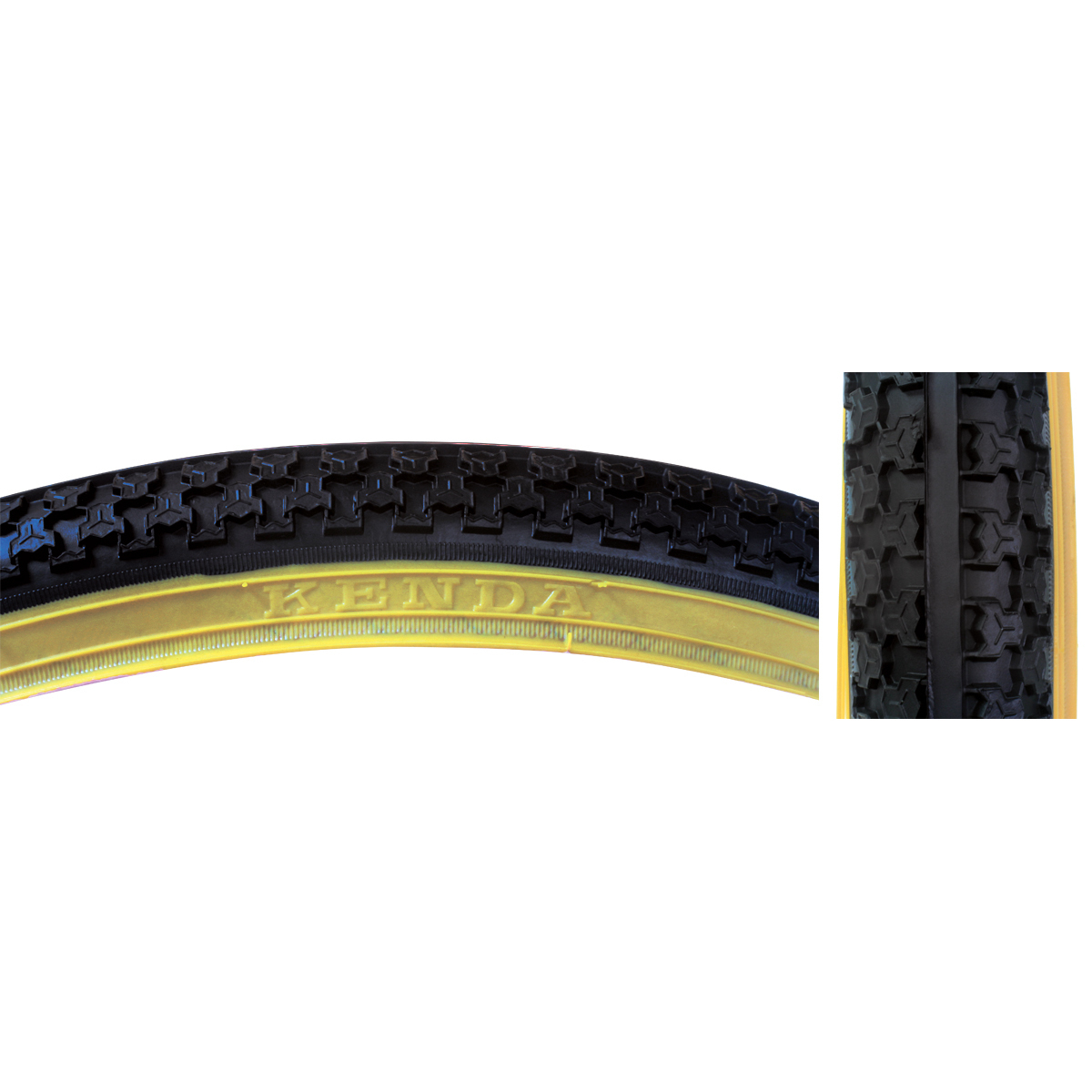 Sunlite Tire 26X1.75 Black/Gm Raised Ctr K5