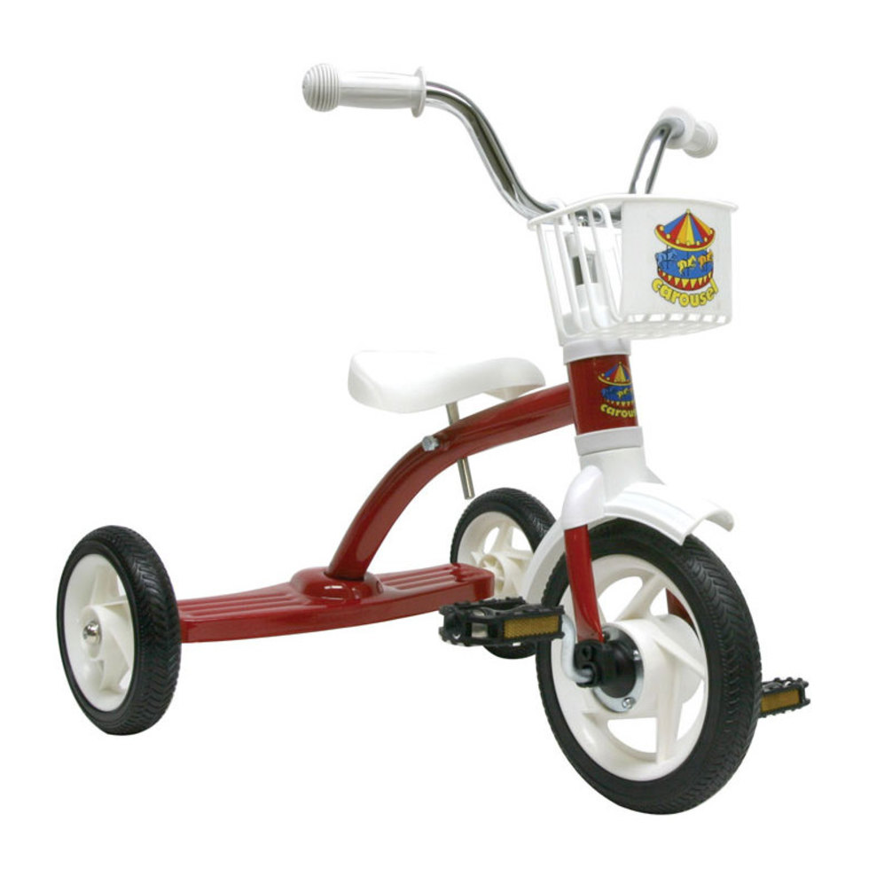 Carousel-Tricycle-10In-Red