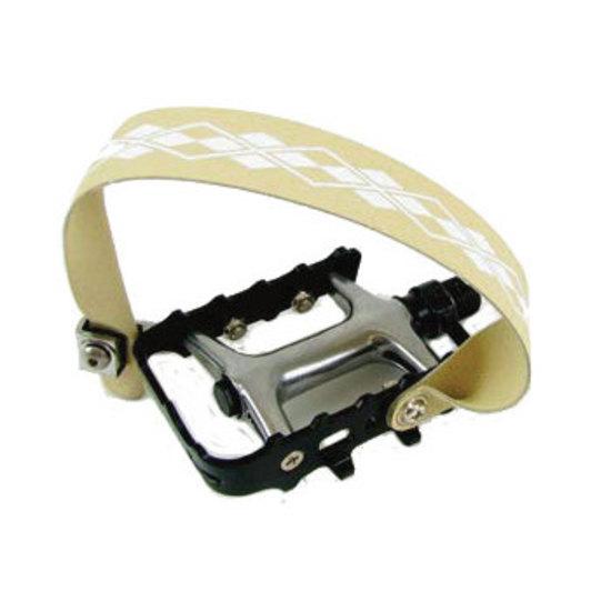 Cinghie per pedali standard Power Grips beige (coppia)