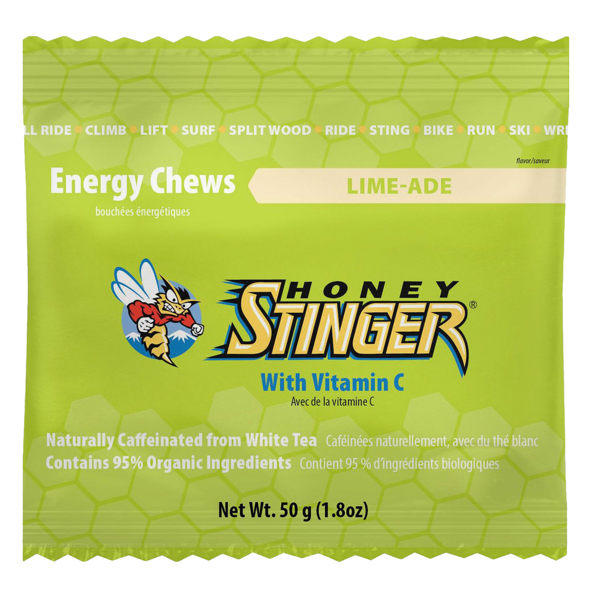 Honey Stinger Organic Energy Chews: Limeade; Box of 12