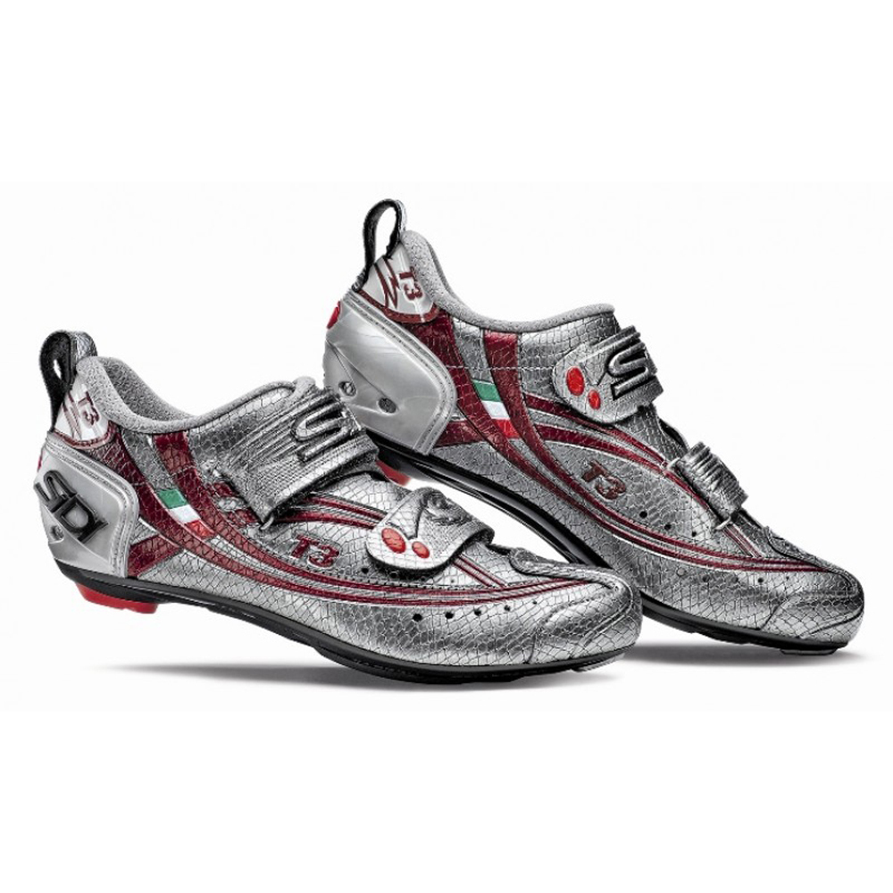 Carbon Triathlon Cycling Shoes Red