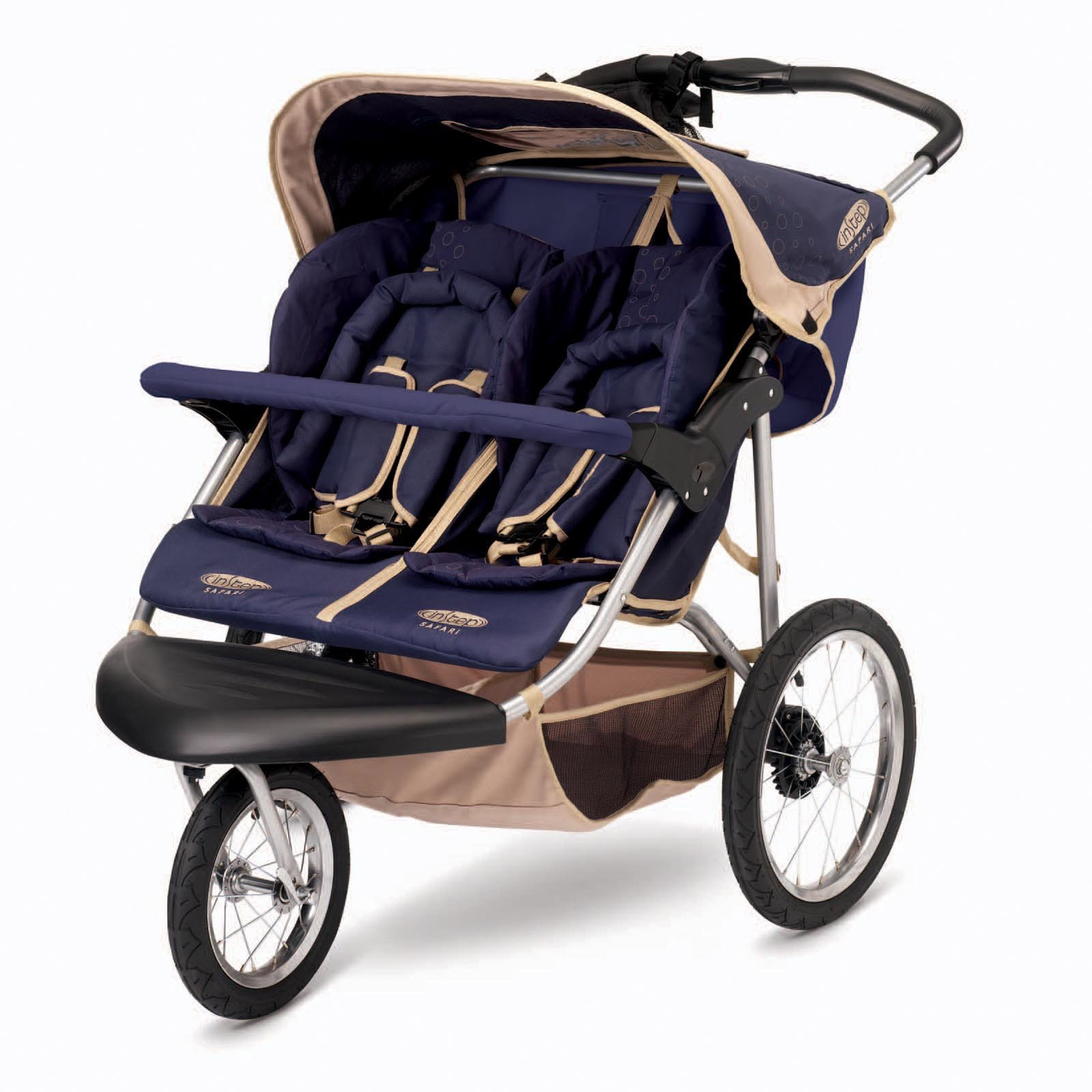 InStep Safari Double Baby Jogging Stroller - Blue | eBay