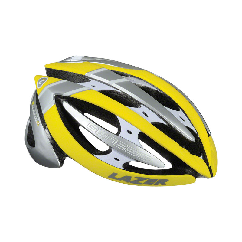 Lazer Genesis Road Bike Helmet Yellow/Silver Large