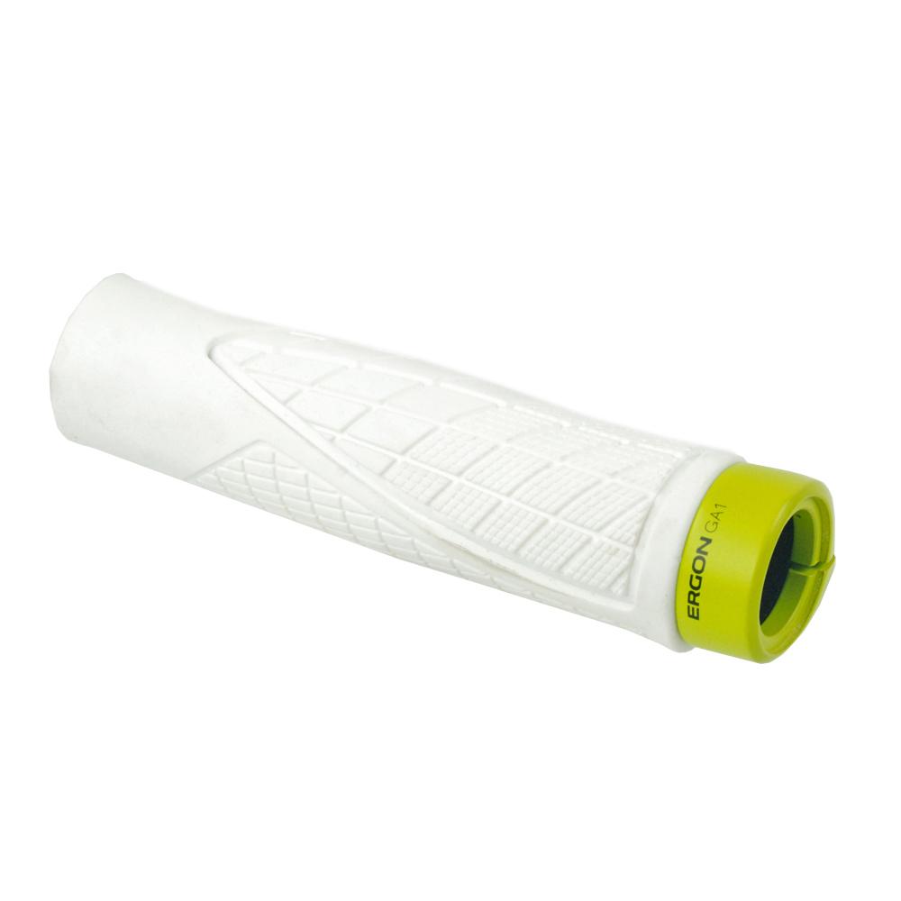 Manopole per manubrio MTB Ergon GA1 grandi colore bianco