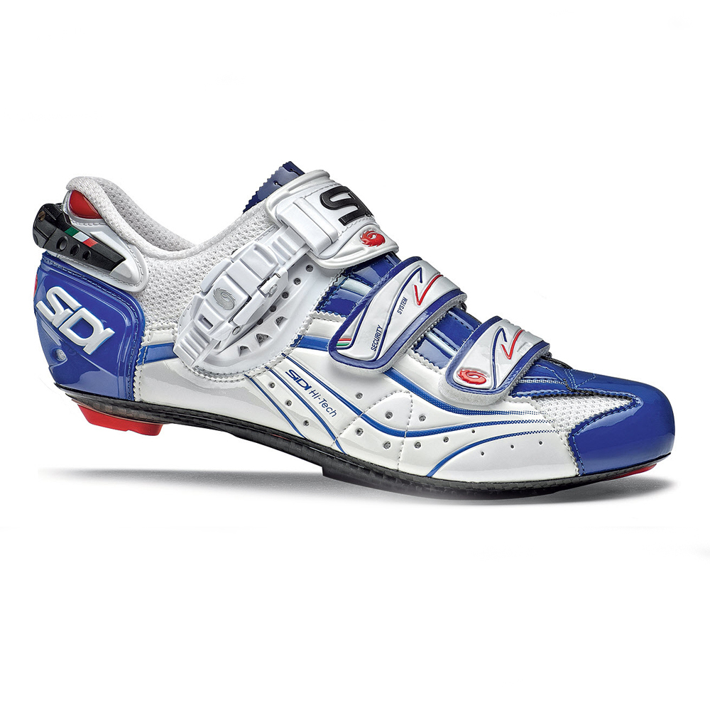 sidi genius 6 6 carbon lite road cycling shoes men 39 s 47 vernice blue white. Black Bedroom Furniture Sets. Home Design Ideas