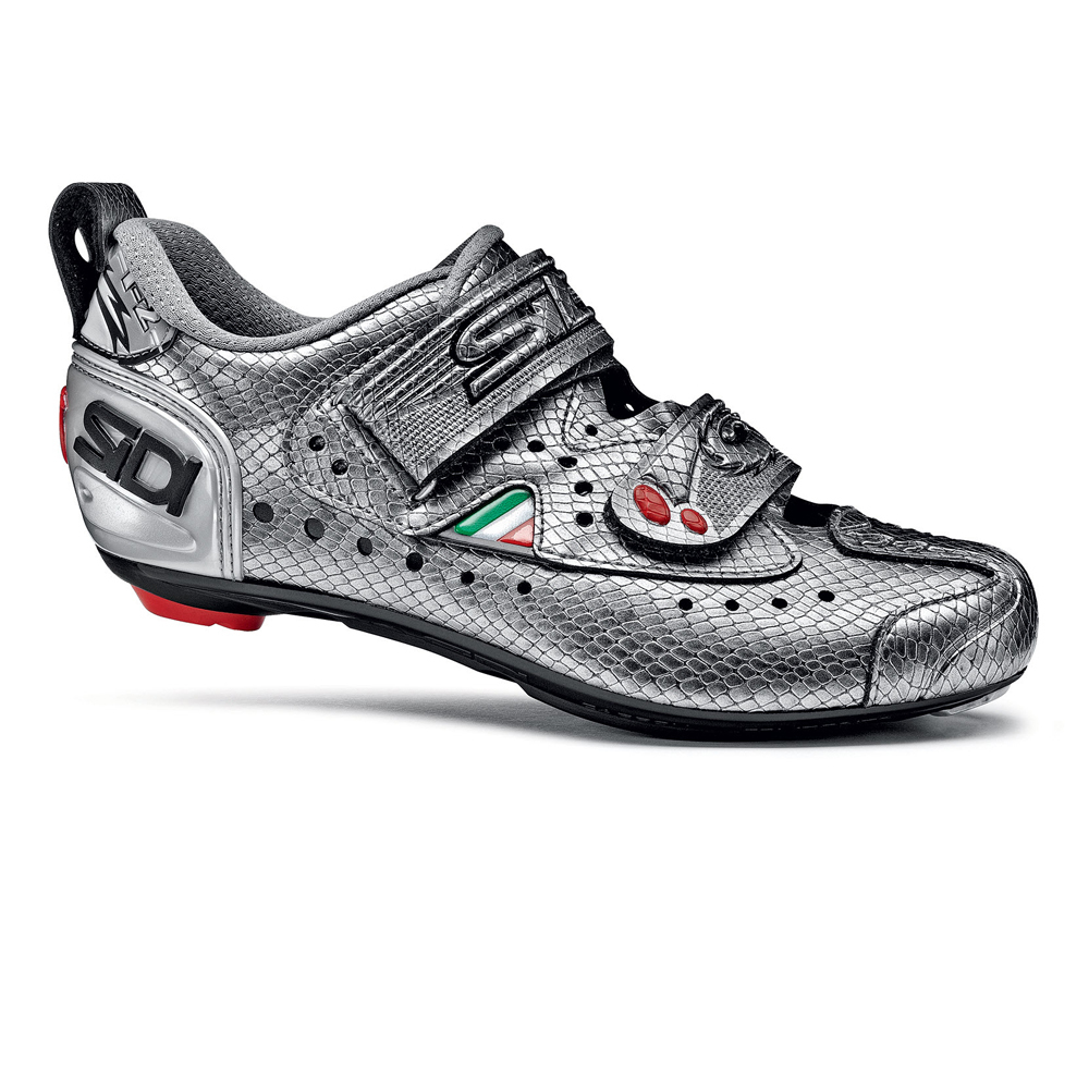 Sidi T2 Carbon Triathlon Cycling Shoes Women's 41 Silver Mamba