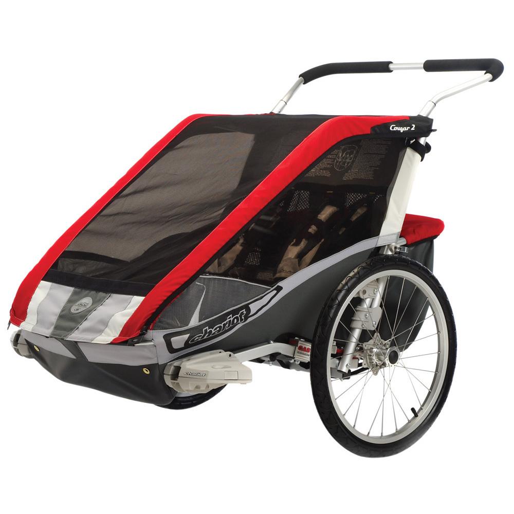 chariot cougar 2 cts stroller bike trailer chassis 2 child. Black Bedroom Furniture Sets. Home Design Ideas
