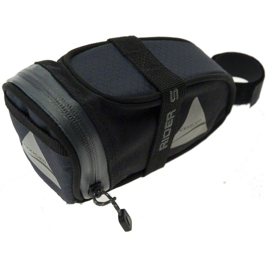 Axiom Rider DLX Seat Bag: Black/Gray; SM