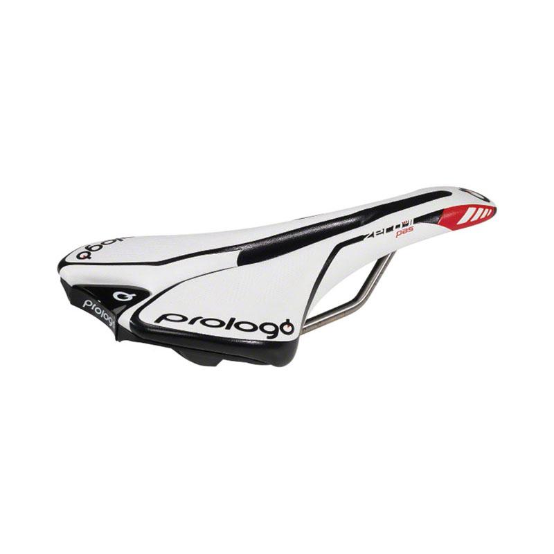Sella per bici da strada Prologo Zero II in titanio solido Bianco/Nero