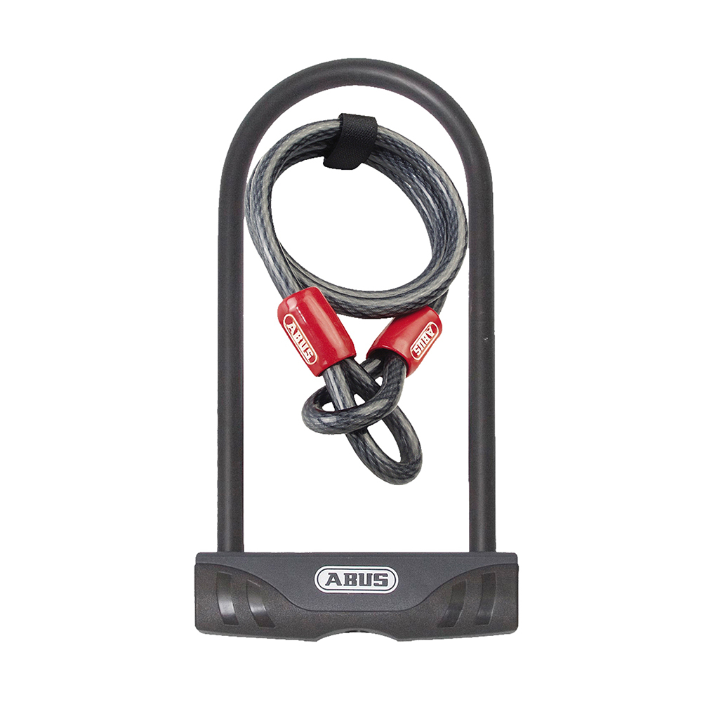 abus facilo u lock combo w cobra 10x140 cable ebay. Black Bedroom Furniture Sets. Home Design Ideas
