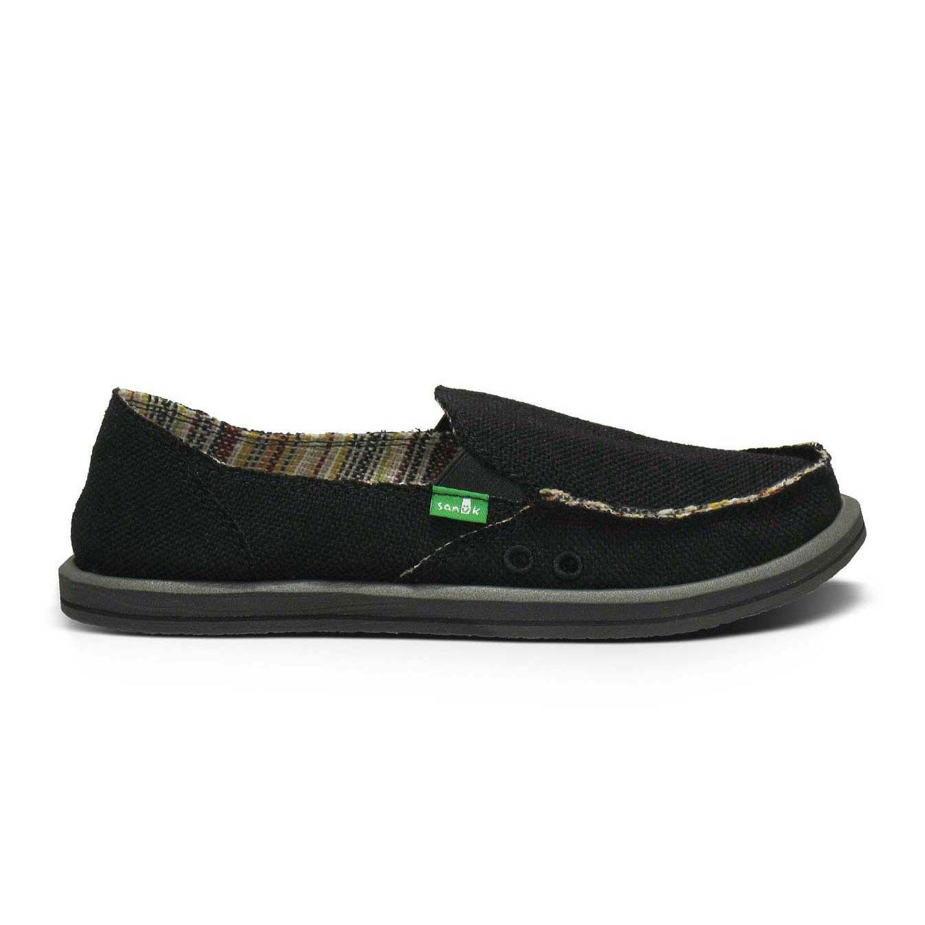 Sanuk® Vagabond Tripper Sidewalk Surfer Slip-On Shoes have the look and feel of your favorite loafers from day one. These Sanuk sidewalk surfers are made of heavy-duty woven canvas with a .