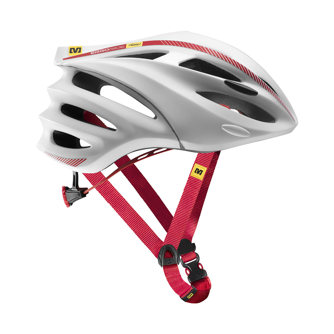 Mavic Syncro Bicyle Helmet White/Red Medium
