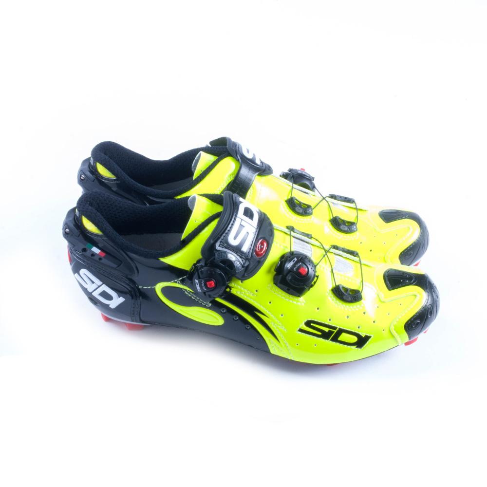 e316f876709 SIDI MEN'S DRAKO Carbon SRS MTB Shoes Yellow Fluo / Black - $499.99 ...