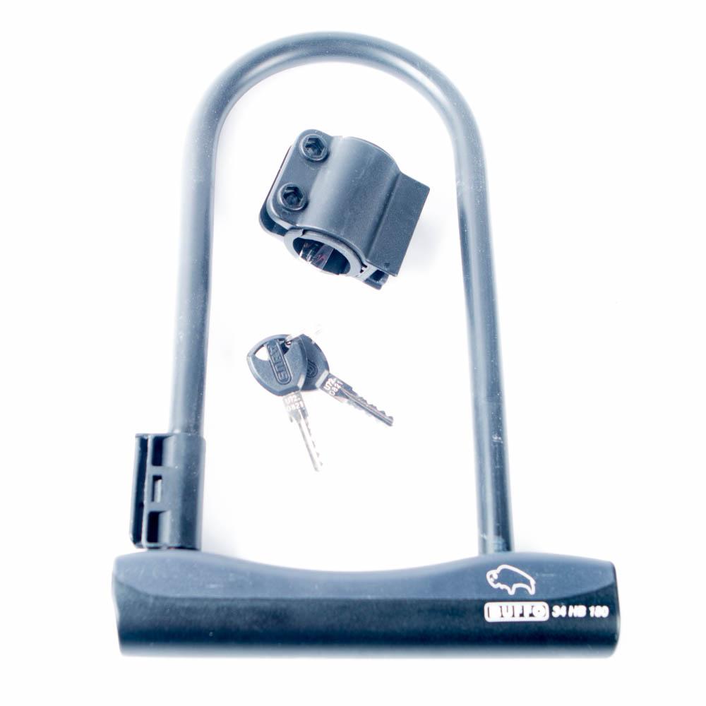 abus u lock buffo 34 bike lock black damaged packaging ebay. Black Bedroom Furniture Sets. Home Design Ideas