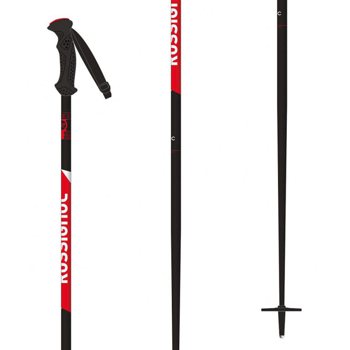 SALOMON CROSS COUNTRY SKI POLES CARBON JR BLACKBLUE
