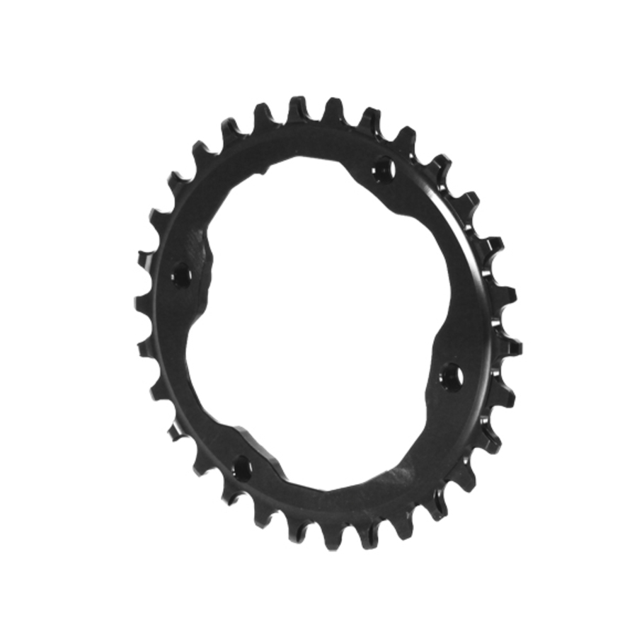 Negro Absoluto Xtr asimétrico 96BCD Oval Plato 30T-Negro