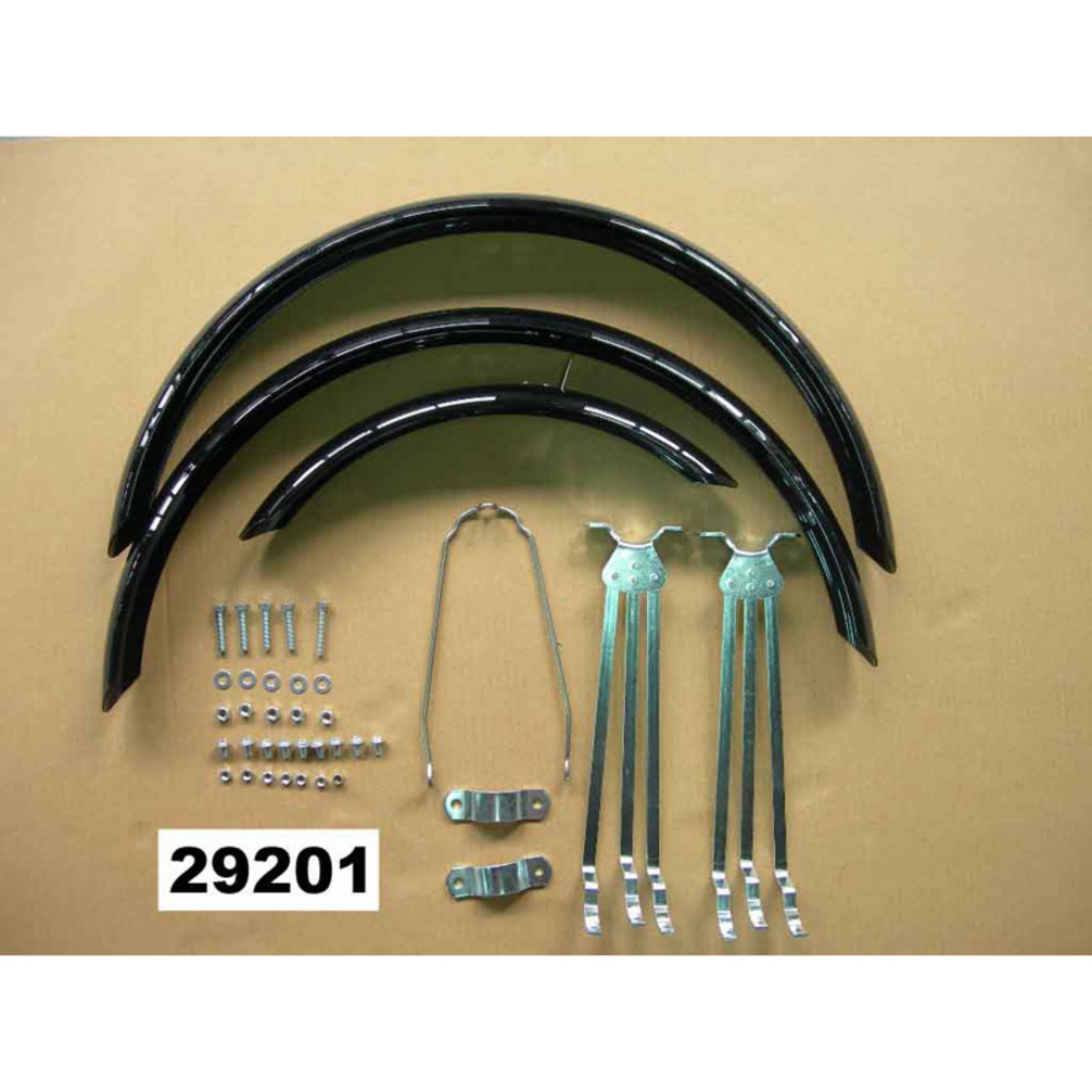 """3 FENDERS NEW CHROME HOLLOW TRIKE  FENDER SET 20/"""" BICYCLES /& HARDWARE,2/&3//4WIDE"""