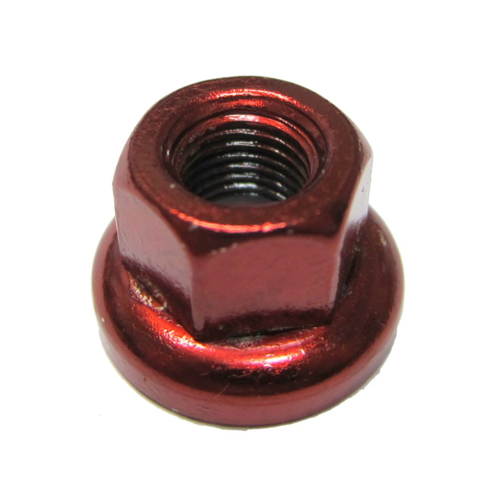 Origin8 Hub Axle Nut Chromoly Front M9X1.0 Pair Red
