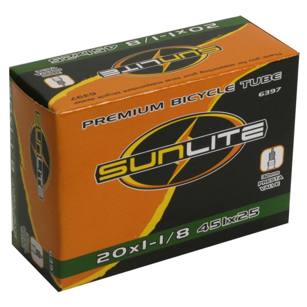 Tube 32mm Smooth Removable SUNLITE Standard Schrader Valve 20x1-1//8 451x28