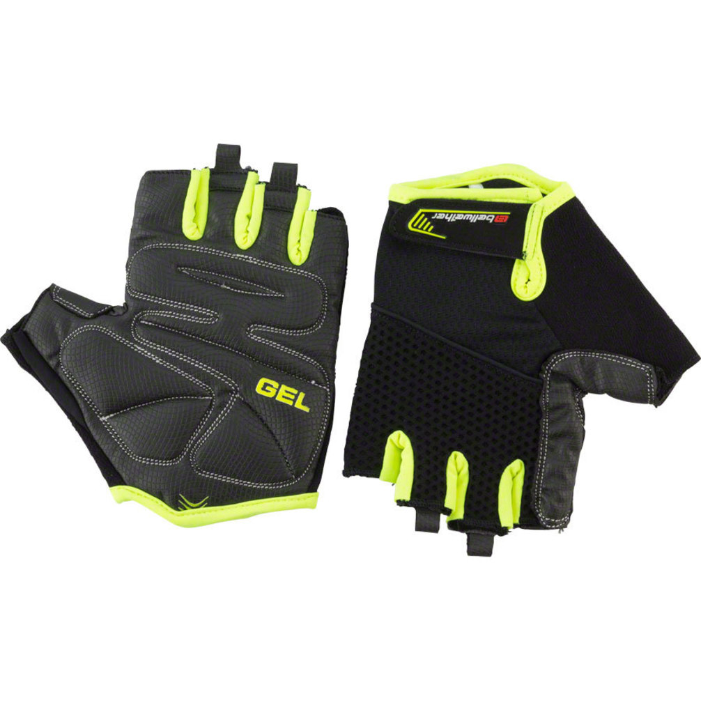 Bellwether Gel Supreme Men S Short Finger Glove Hi Vis Lg