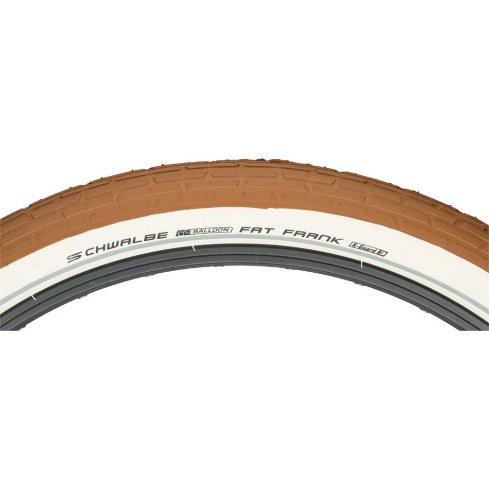 "Schwalbe Fat Frank 26x2.35/"" Tire Wire Bead Creme//Reflective K-Guard"