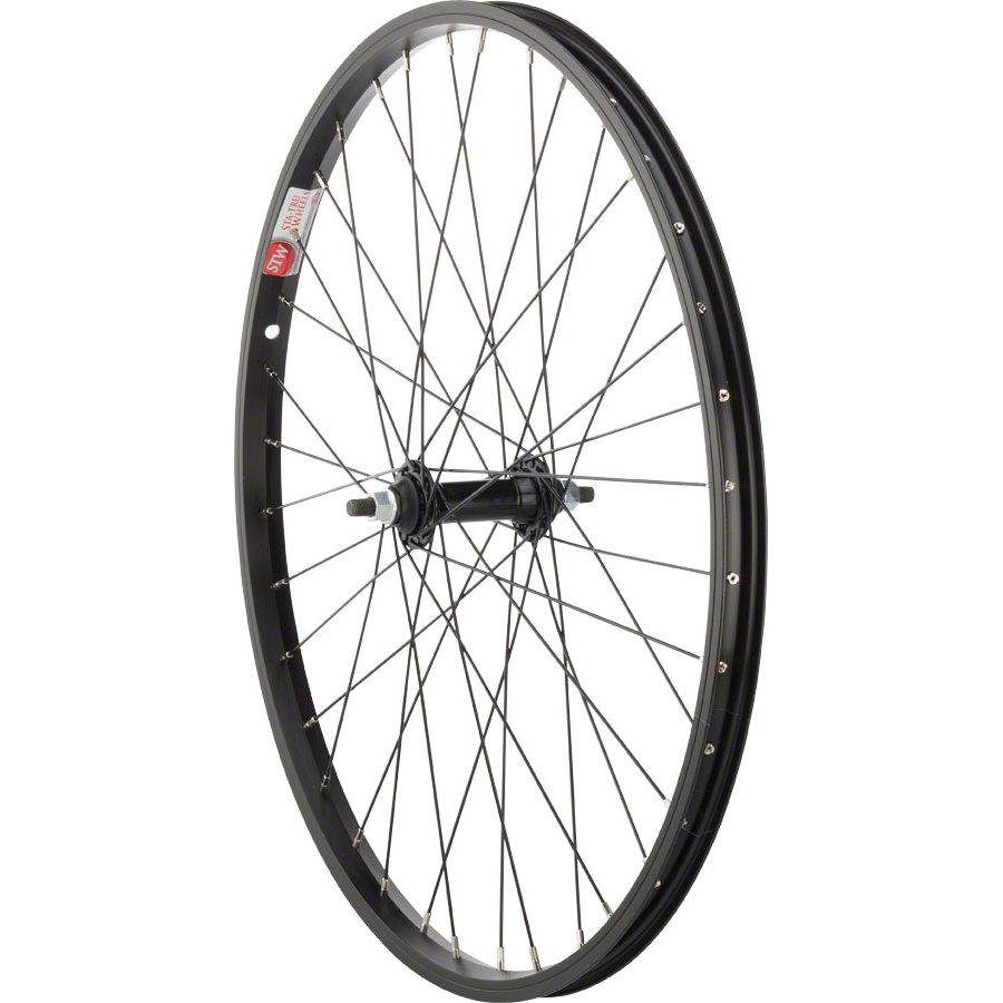 "Sta Tru Front Wheel 24x1.5/"" Solid Thread Axle 36 Spokes Includes Axle Nuts Black"