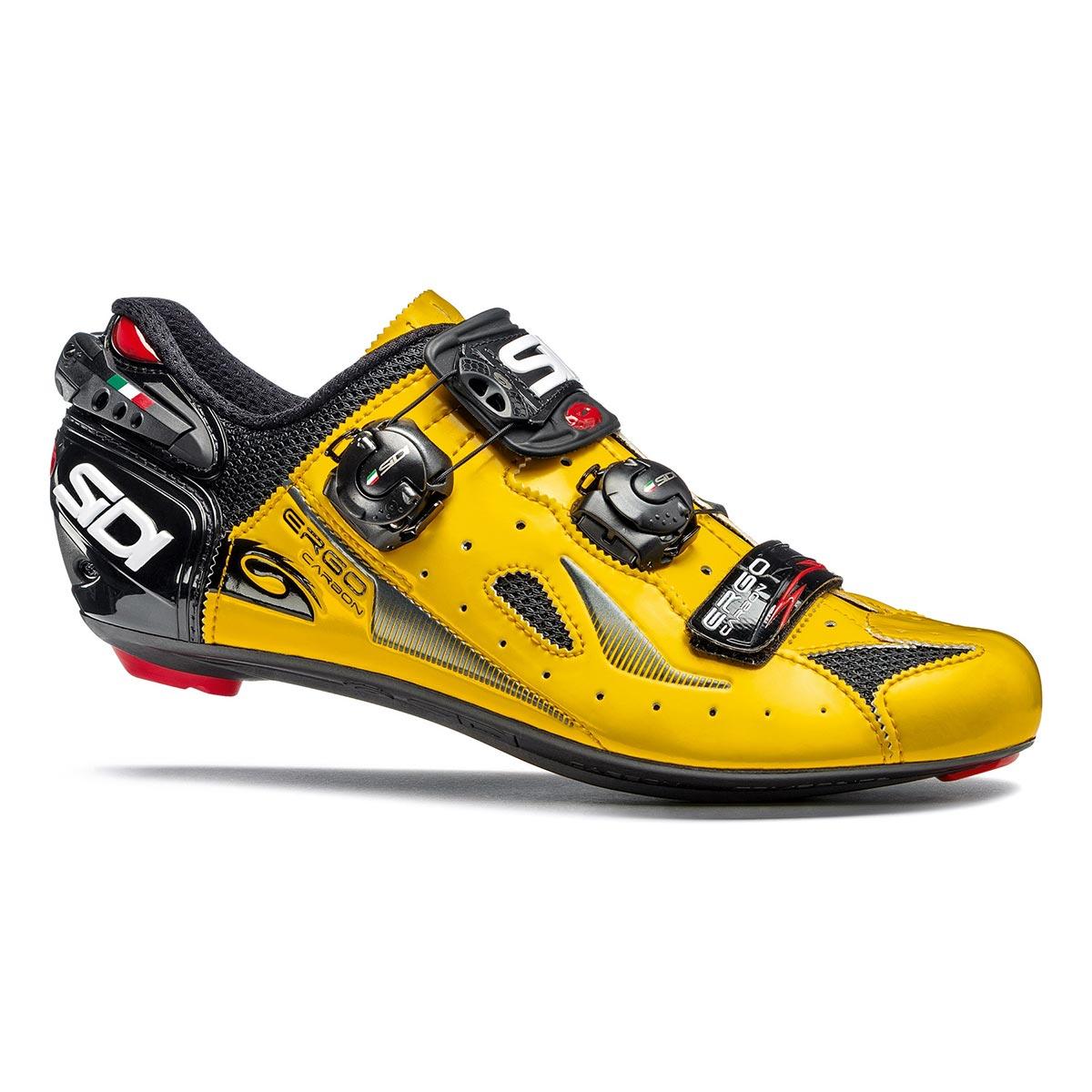 Détails sur Sidi Ergo 4 pour Homme Route Chaussures Cyclisme JauneNoir