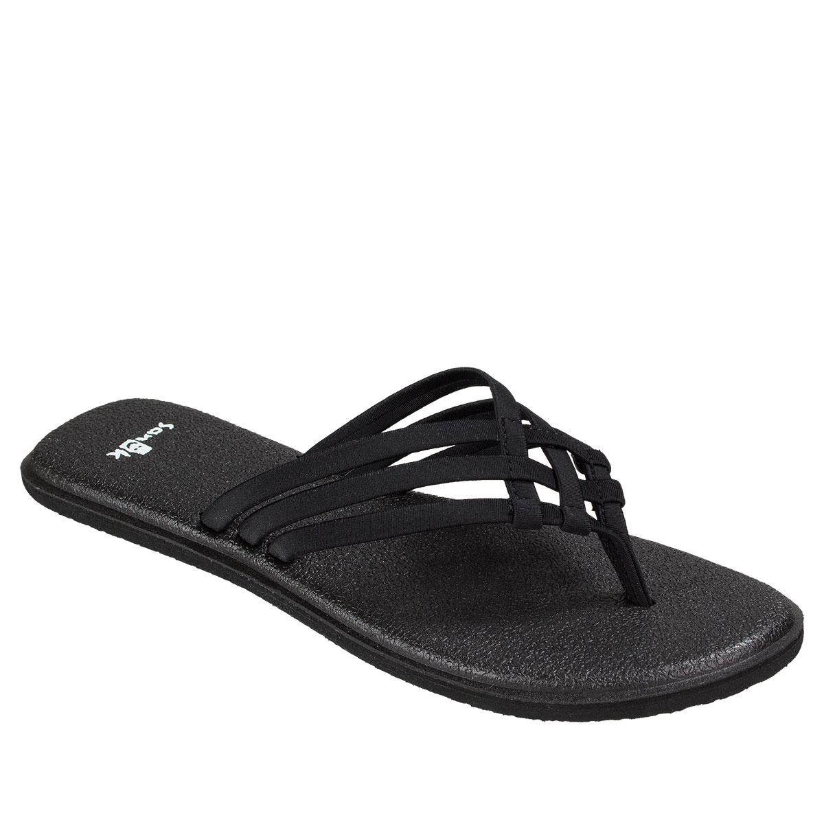 2052ae6362ff2e Image is loading Sanuk-Yoga-Salty-Women-039-s-Sandals-Black-