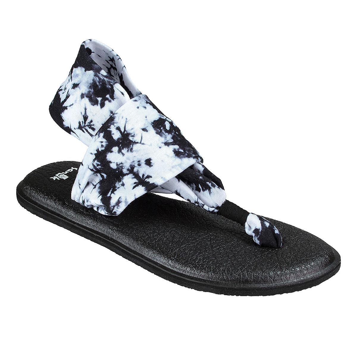 4b588beacf1e Details about Sanuk Yoga Sling 2 Prints Women s Sandals Black Tye Dye 11