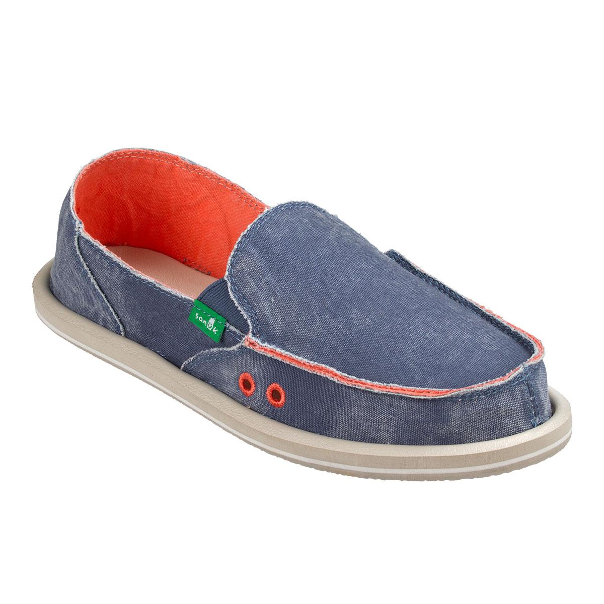 Sanuk women Distressed Women's shoes Slate bluee 6