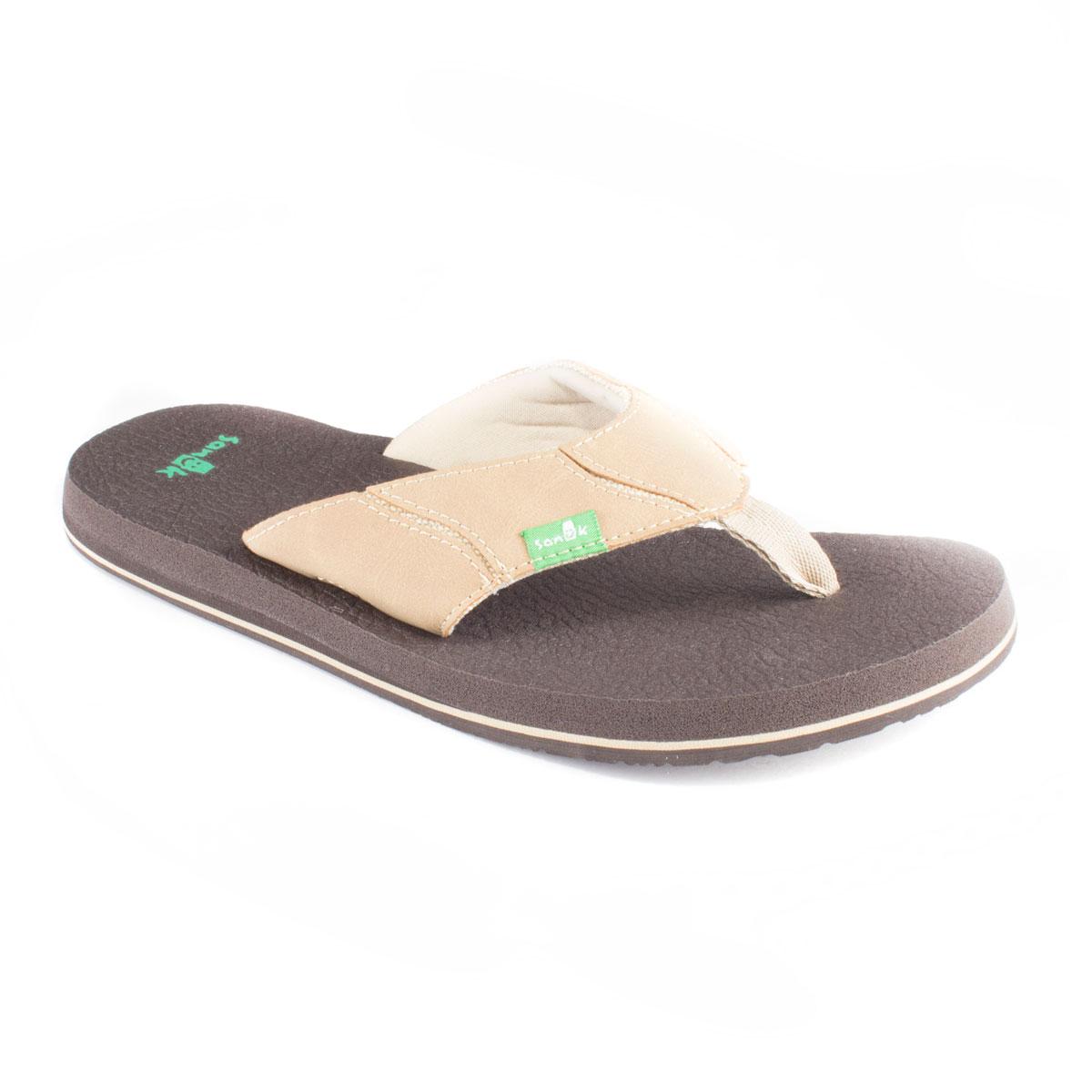 Sanuk Men S Fault Line Flip Flop Brown 9 Ebay