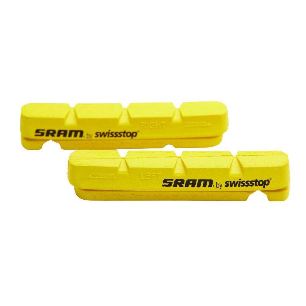 4pcs Swissstop Flash Pro Road Brake Pads Yellow Carbon Rim for Shimano sram