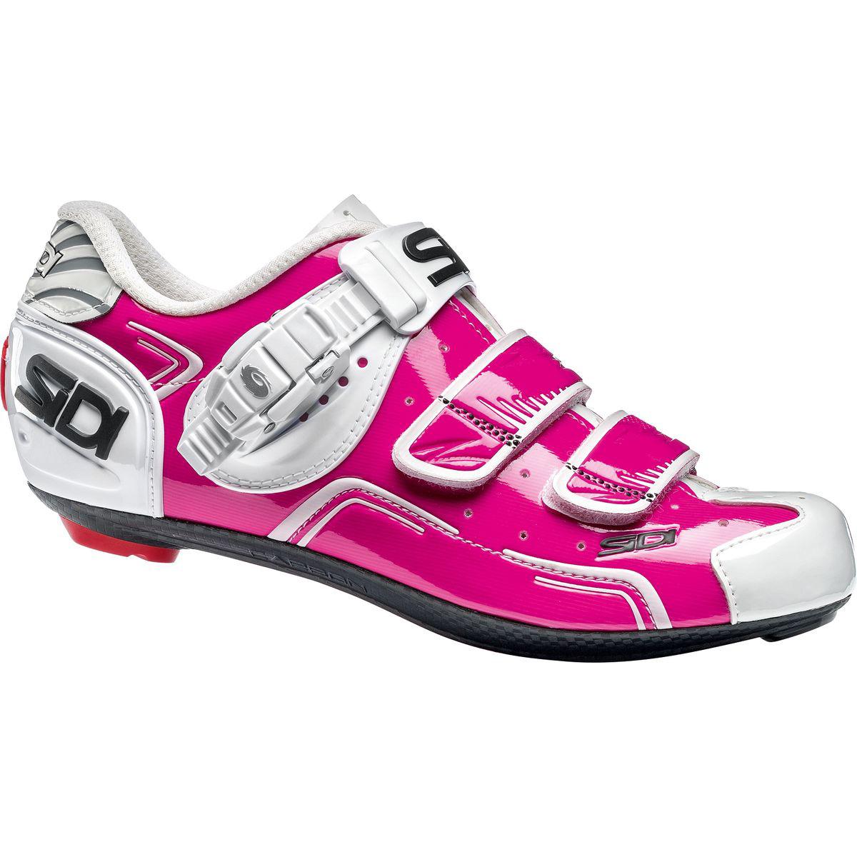 Sidi Level Carbon Womens Pink White Road Bike Cycling Shoes //// EUR 39 US 7
