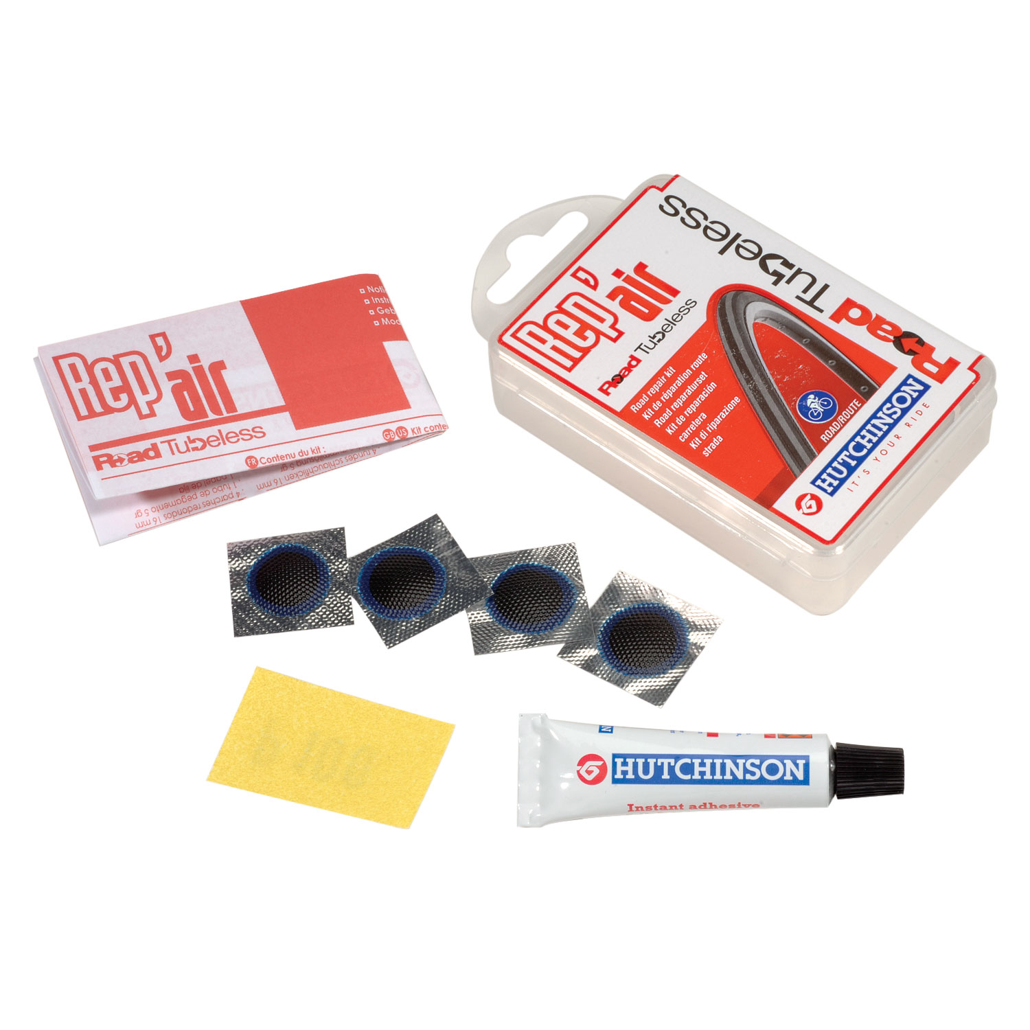 Hutchinson Road Rep/'Air Tubeless Repair Patch Kit for UST Tire