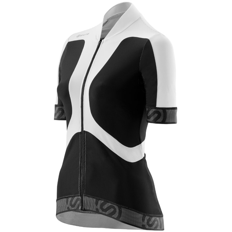 Skins Cycle Women s Tremola Jersey Short-sleeve Black White Large ... bb6768ae2