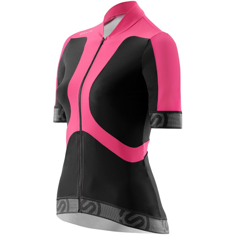 Skins Cycle Women s Tremola Jersey Short-sleeve Black Pink Large ... 44a4a82c7